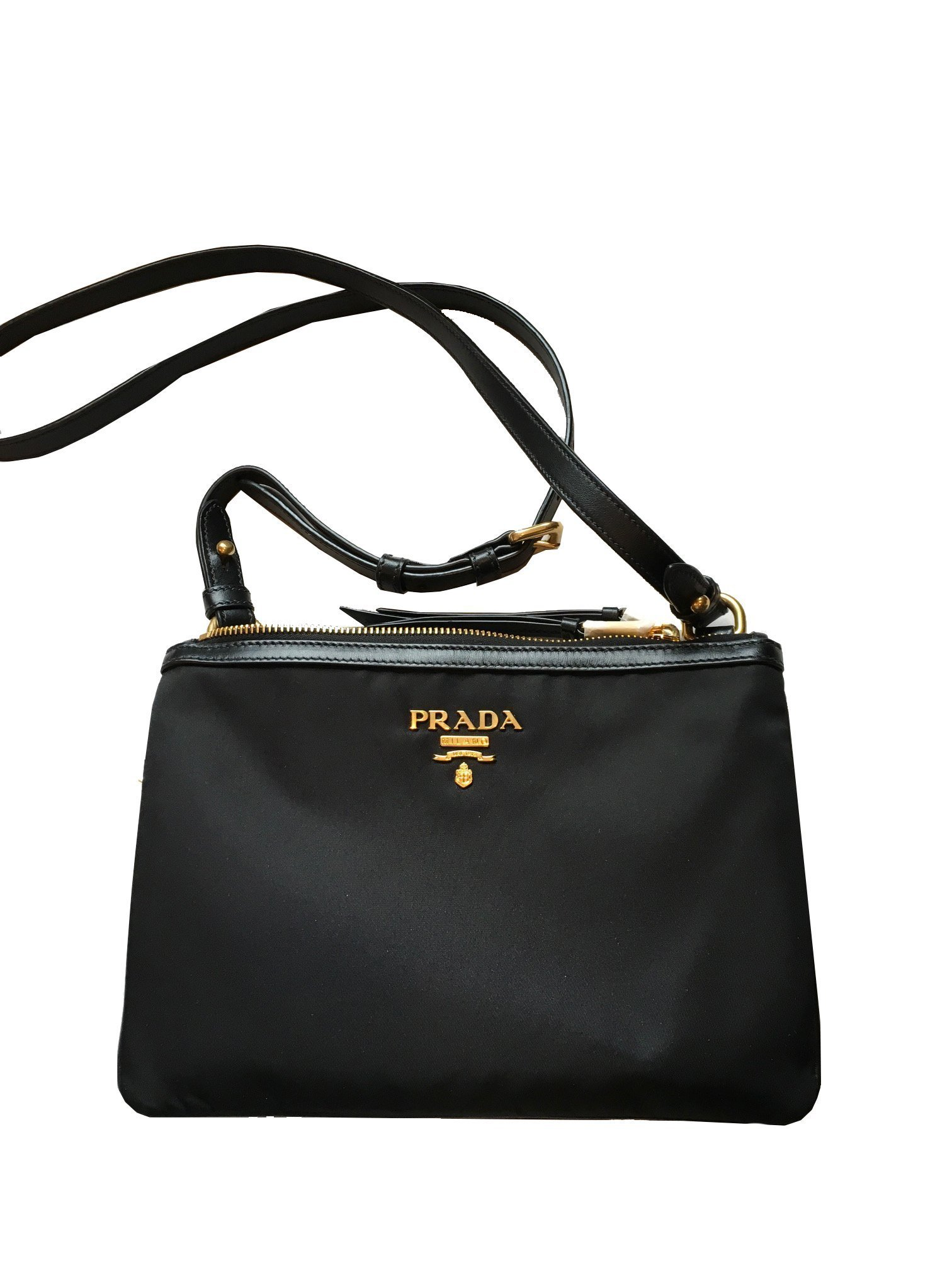 c37fbf90aa77e0 Prada Women's Black Tessuto Nylon Cross Body 1BH046 #Prada  #QueenBeeofBeverlyHills #BeverlyHills #Fendi #Designer #SaintLaurent  #DesignerHandbags #TomFord ...
