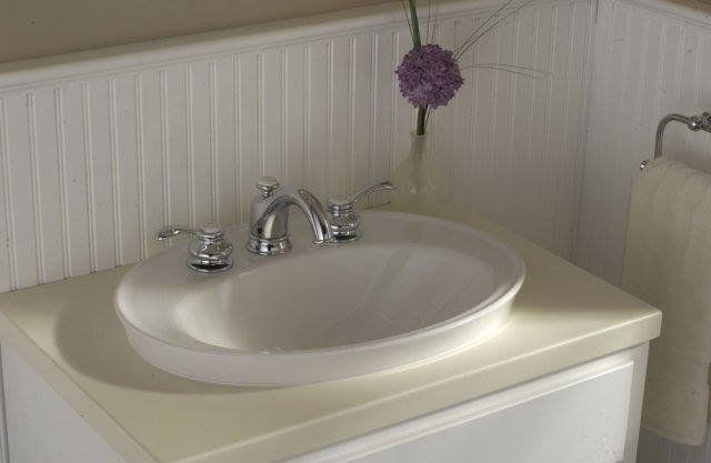 Kohler K 2075 1 47 Almond Serif 16 7 8 Drop In Bathroom Sink With 1 Hole Drilled And Overflow Faucetdirect Com Drop In Bathroom Sinks Sink Bathroom Kohler drop in bathroom sinks