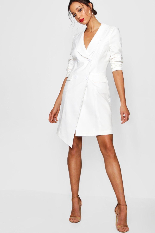Tall Wrap Asymmetric Blazer Dress Boohoo Canada Blazer Dress White Dress Dresses [ 1500 x 1000 Pixel ]