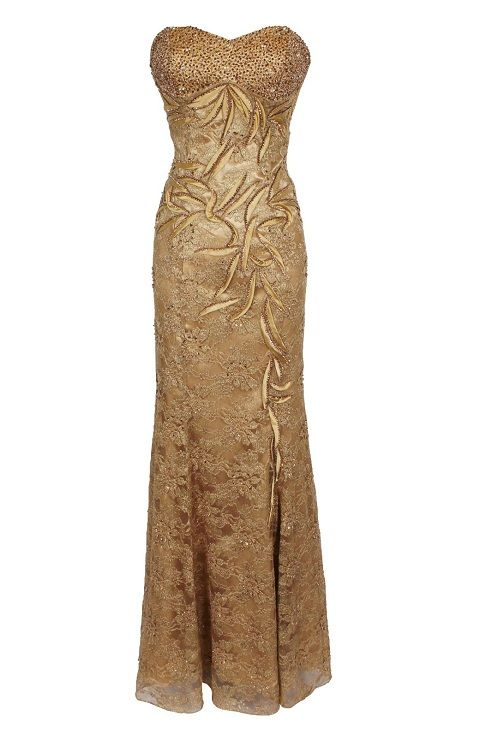 gold gowns | ... plus size golden gold prom dresses formal gowns ...