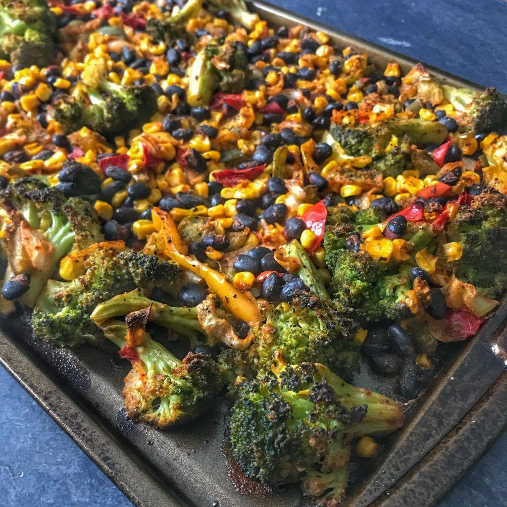 Tex-Mex Easy Roasted Vegetables: How to Bulk Roast Frozen Vegetables