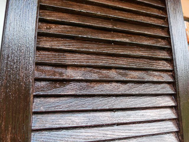 Stain Your Shutters And Metal Door With Minwax Gel Stain Vinyl Shutters Paint Vinyl Shutters Distressed Shutters
