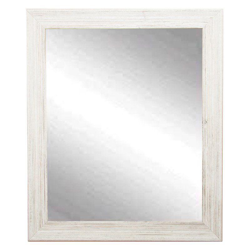 BrandtWorks Designers Choice Rectangle Wall Mirror - Coastal White - BM018S