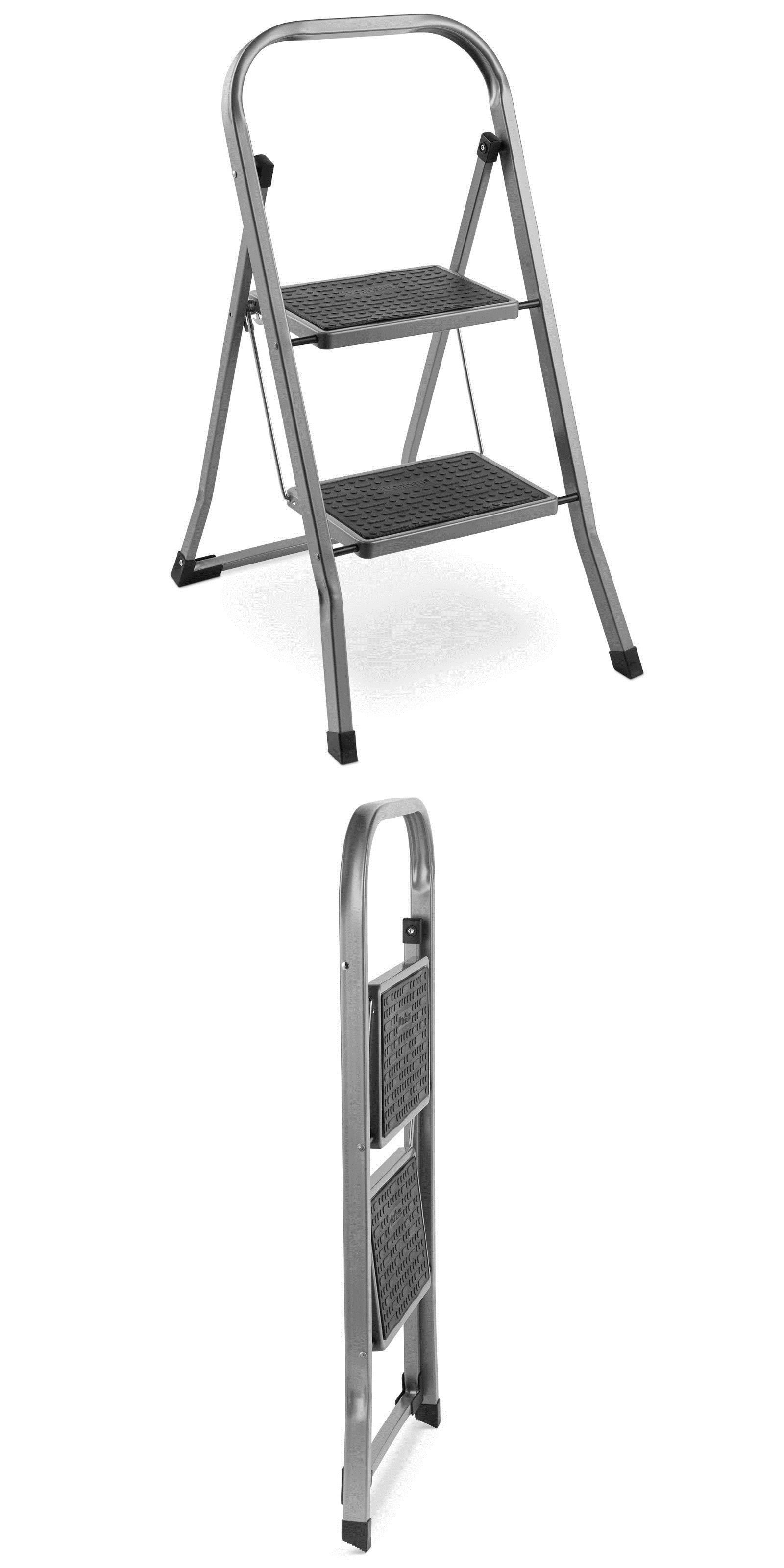 Magnificent Ladders 112567 Vonhaus 2 Step Ladder Folding Stool Heavy Pabps2019 Chair Design Images Pabps2019Com