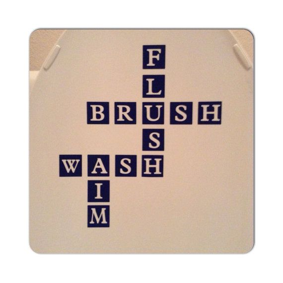 Bathroom Scrabble Words Vinyl Decal Custom Vinyl By DecalsEnFolie - Custom vinyl wall decals sayings for bathroom