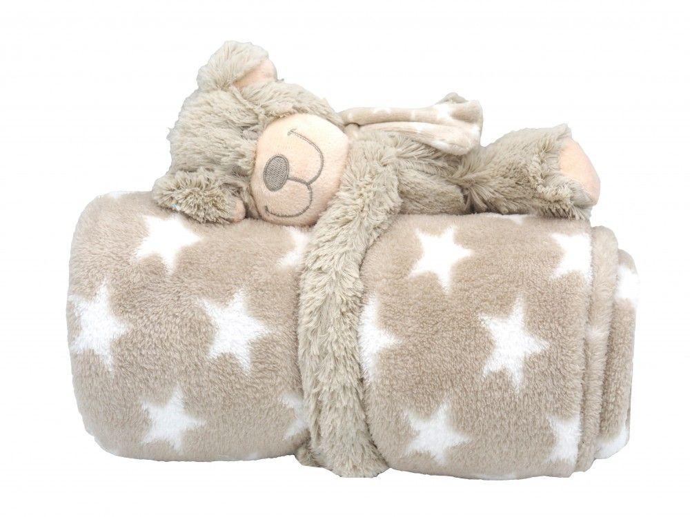 Baby Kinder Schmusedecke Hund Kuscheldecke Decke Kuscheltier