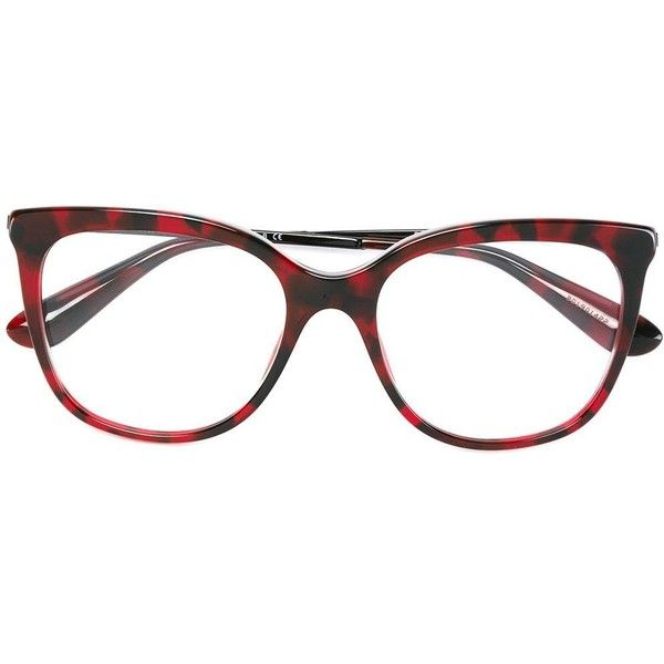 85b3e2a203 Dolce   Gabbana cat eye frame glasses (€215) ❤ liked on Polyvore featuring  accessories
