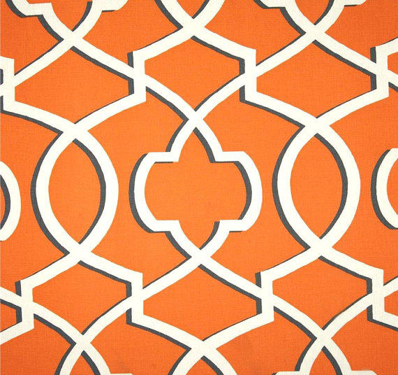 Home Decor Fabrics By The Yard blue and off white circle striped linen look upholstery fabric by Geometric Orange Navy Gray Home Decor Fabric By The Yard Designer Drapery Fabric Curtain Fabric Upholstery Fabric Bold Southwest Fabric C346