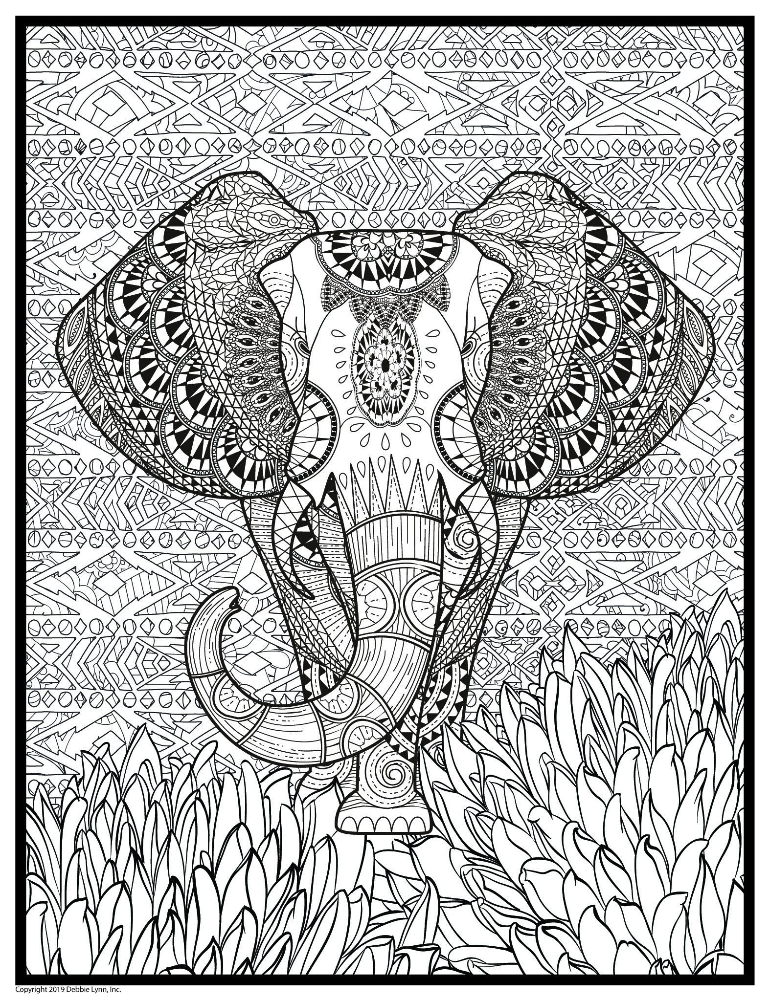 Super Huge 48 X 63 Coloring Poster Coloring Posters Animal Coloring Books Elephant Coloring Page