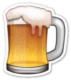 Beer Mug Stiker Desain Stiker Seni