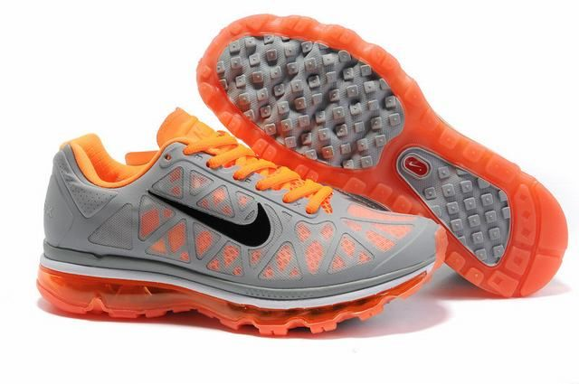 womens nike air max 2011 netty Nike Air Max 2011 Shoes Grey Orange Womens 301935 | Nike air max ...