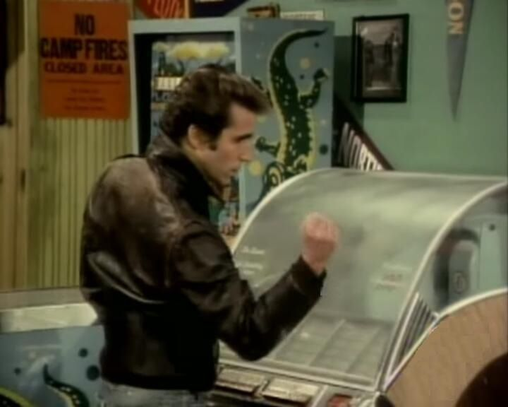 the Fonz - yes, and how he'd hit the juke box to make it start playing!
