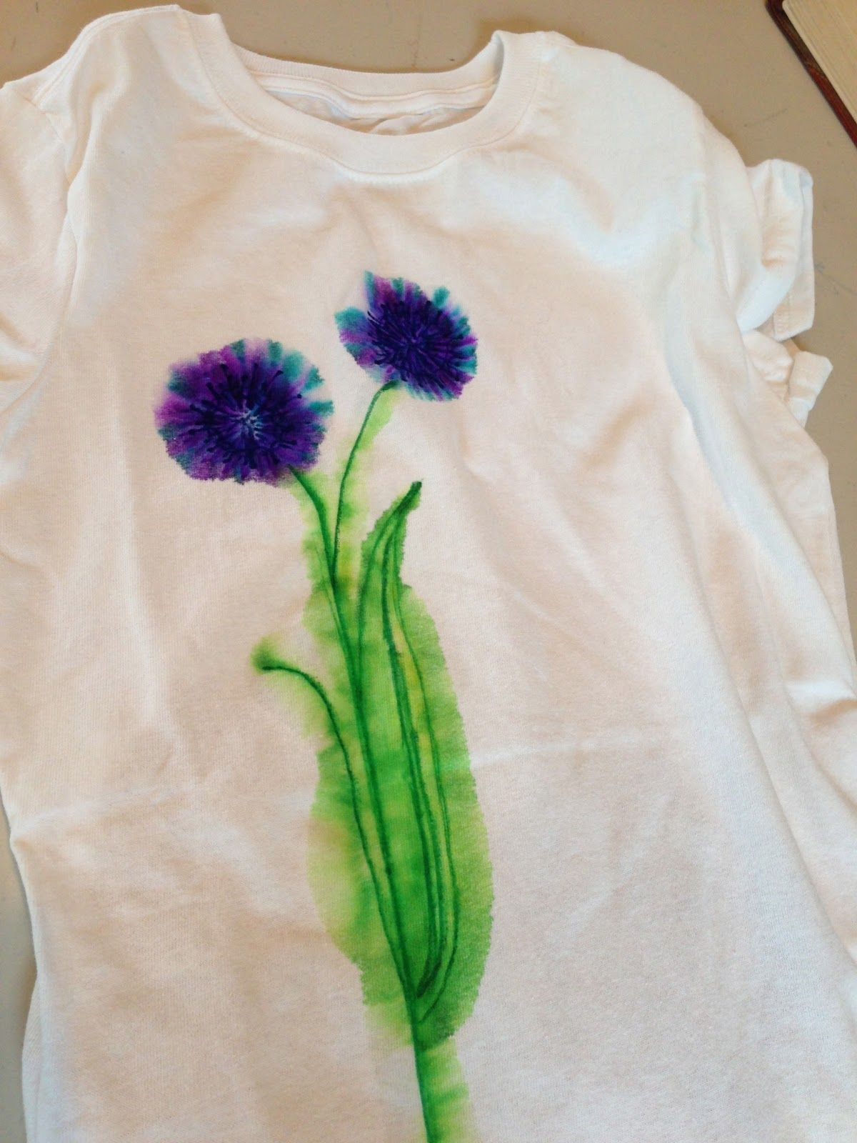 Diy Watercolor T Shirt Using Sharpies Diy Sharpie Crafts