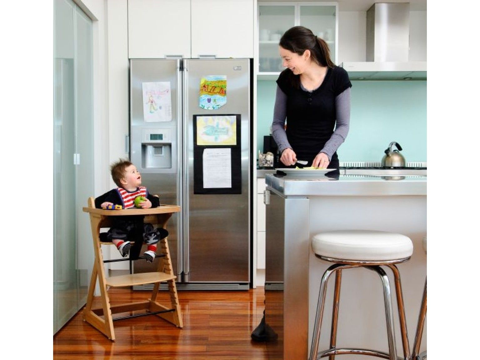 Mocka original highchair free harness with images