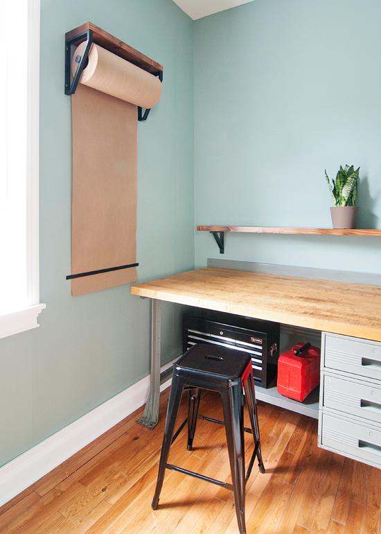 Diy Kraft Paper Roll Shelves Home Diy Home Decor