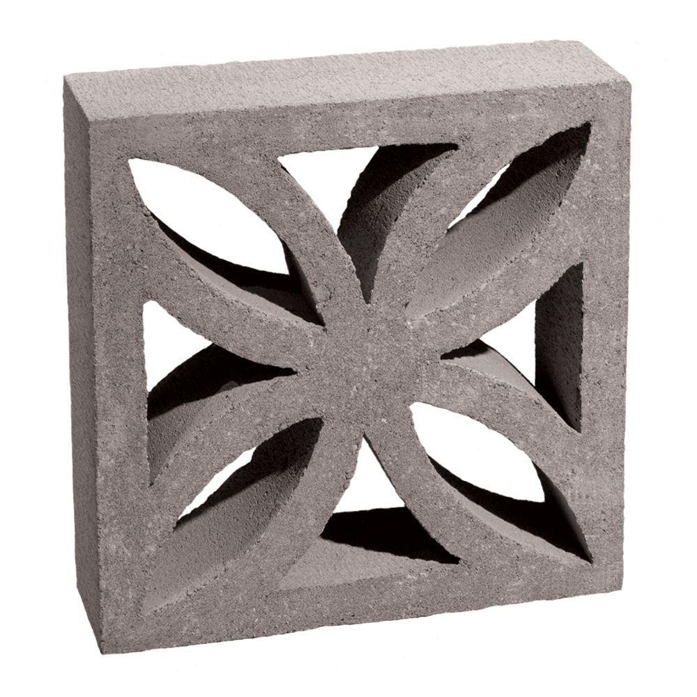12 In X 12 In X 4 In Gray Concrete Block 100002873 The Home Depot Decorative Concrete Blocks Concrete Blocks Decorative Cinder Blocks