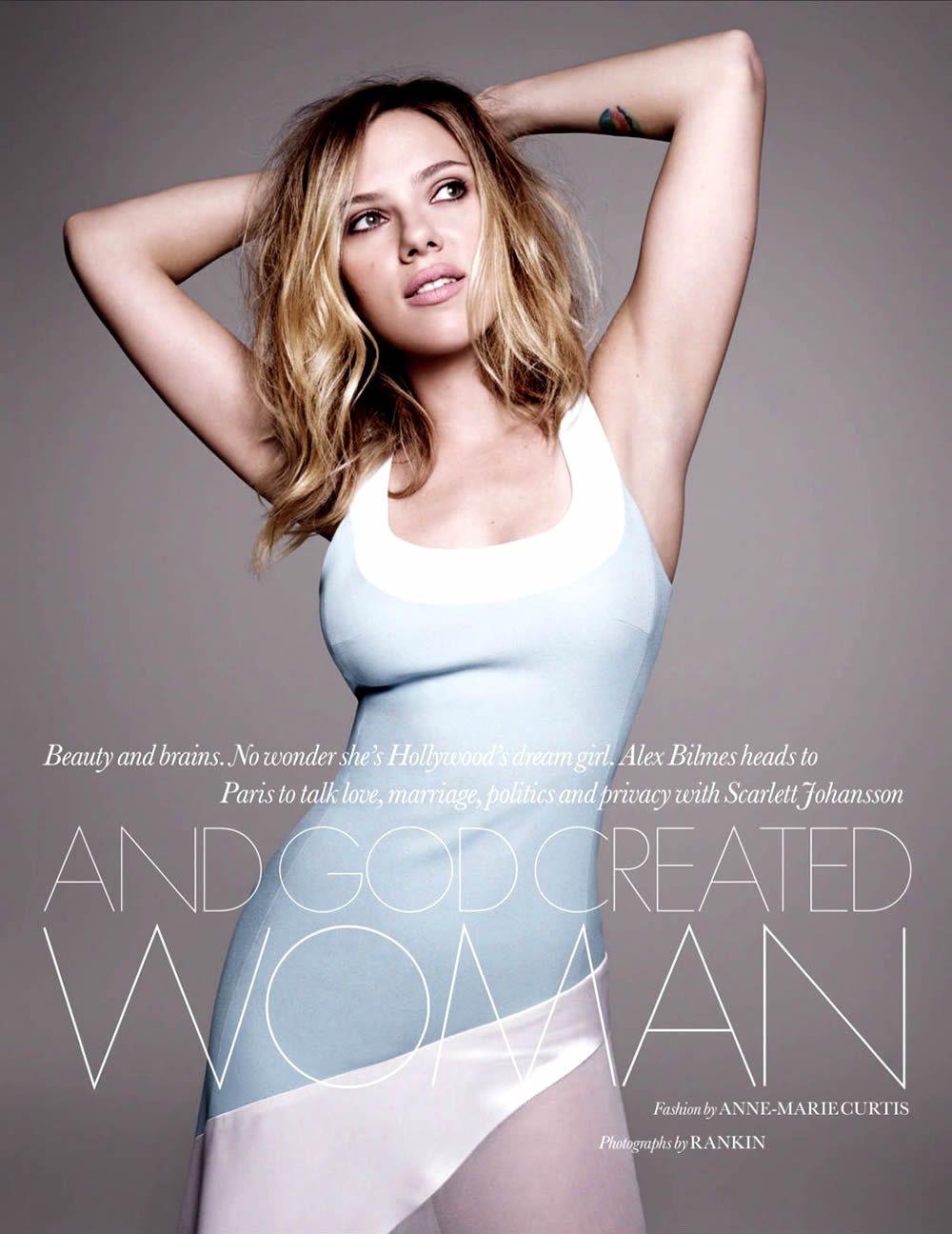 Scarlett johansson by rankin for elle uk february scarlett