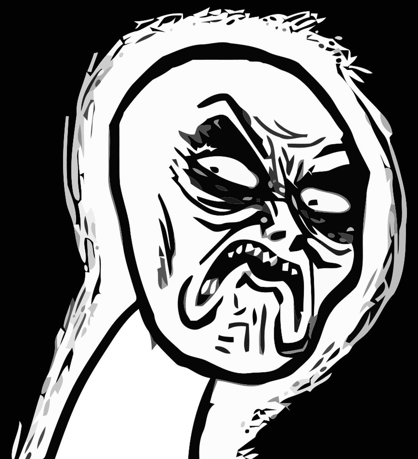 Angry Contempt Rage Meme Rage Faces Funny Emoticons