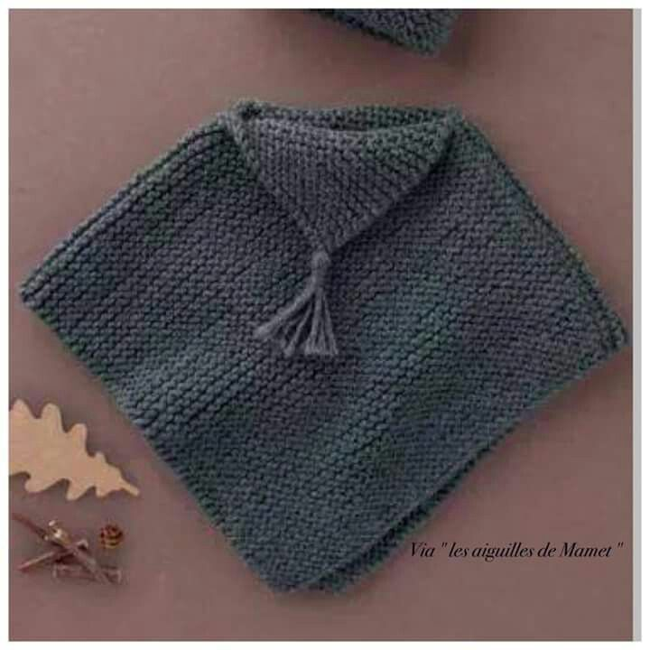 Poncho in square format with a fold over at the neck... | Stitch ...