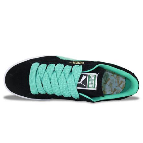 Puma Suede Classic BlackElectric Green