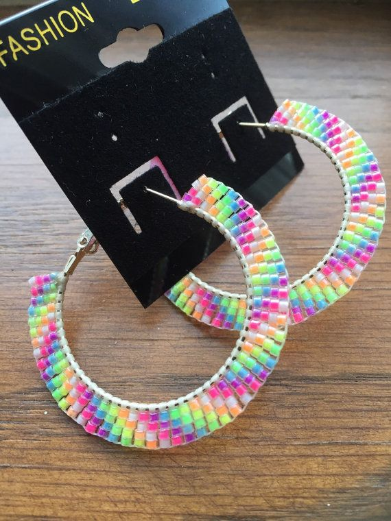 how to make native american seed bead hoop earrings