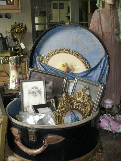 This is obviously a store display, but it would look nice on a painted dresser in a shabby chic bedroom