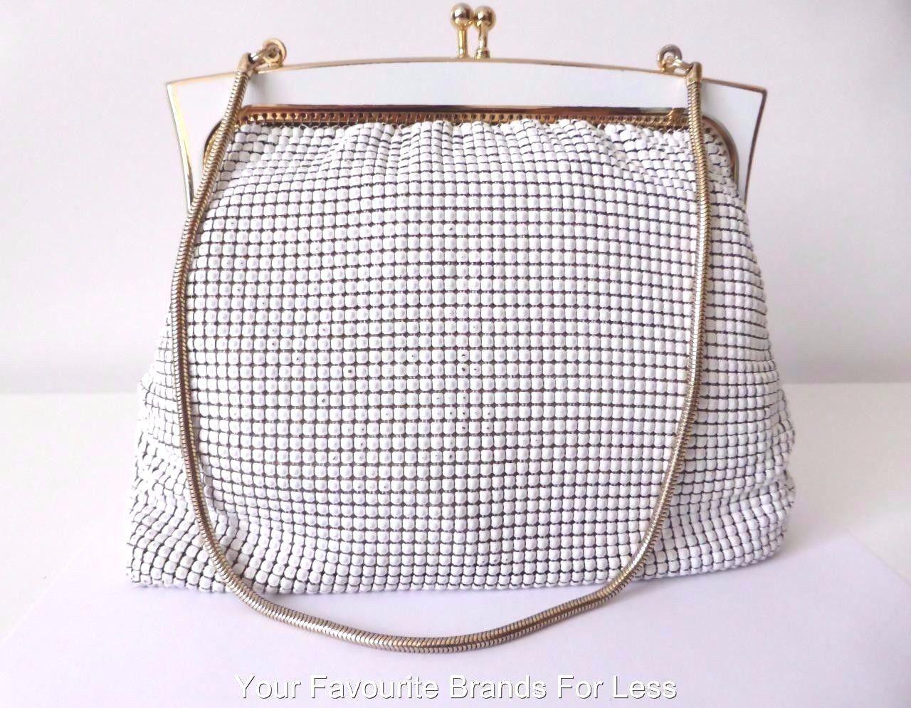 Glomesh Women S Bag Vintage White Mesh Evening Bag Made In Australia Ebay Eveningbagsvintage Vintage Evening Bags Evening Bags Bag Making