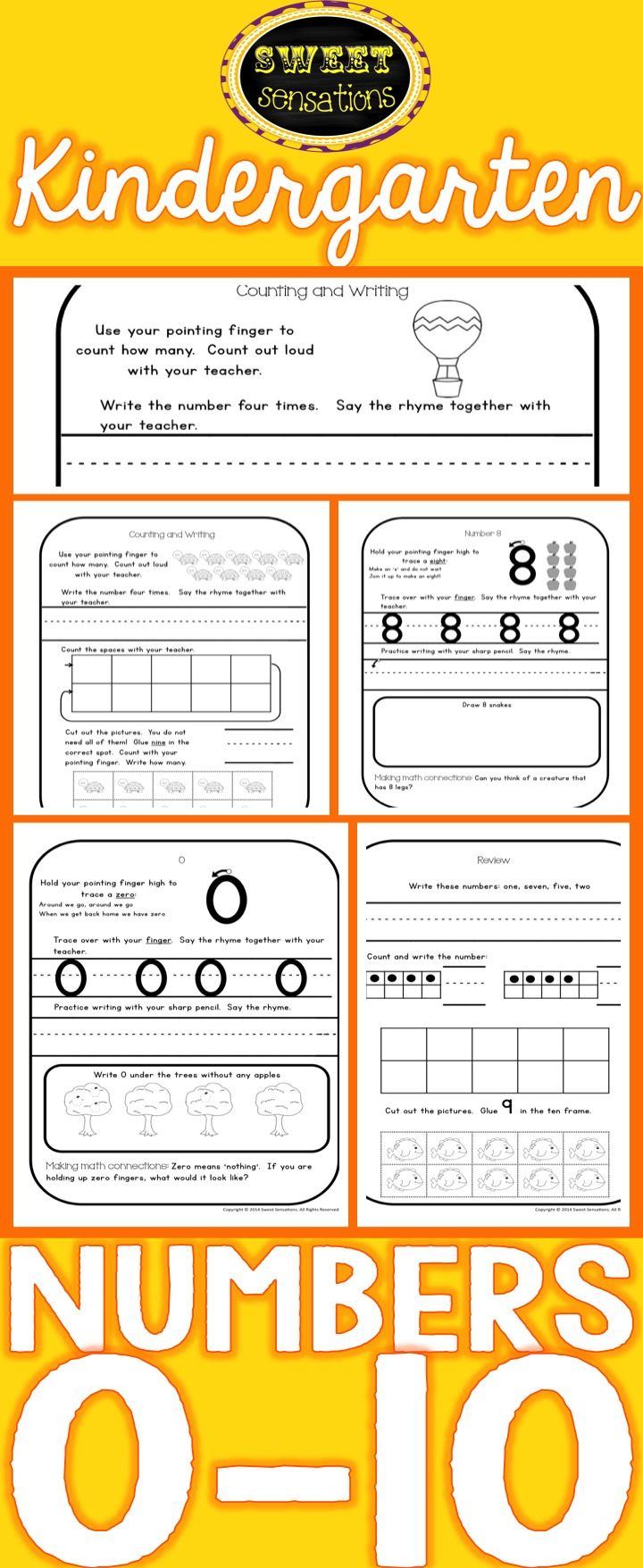Kindergarten Numbers 0-10 | Number formation, Writing numbers and ...