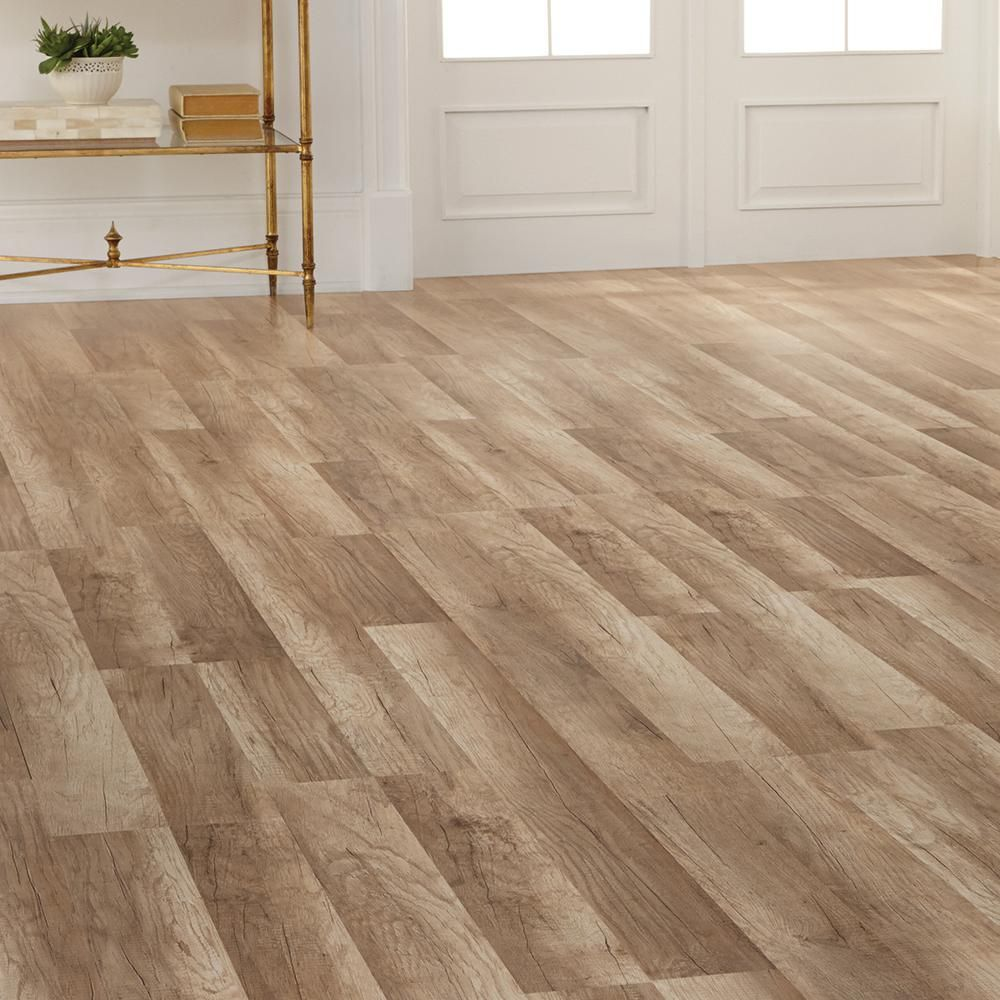 Home decorators collection dove mountain oak 12 mm thick x for Square laminate floor tiles