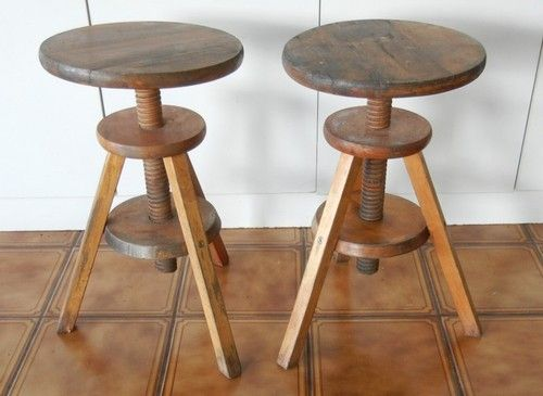 Astounding Timber Wind Up Piano Stools Discovered On Ebay Rustic Chic Machost Co Dining Chair Design Ideas Machostcouk
