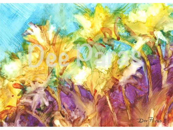 Wild Flowers.a Giclee Print  *Dee Paras~Etsy.com