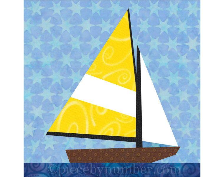 Sailboat quilt blocks paper pieced quilt от PieceByNumberQuilts ... : sailing quilt - Adamdwight.com