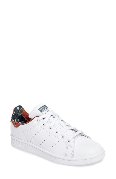 Free shipping and returns on adidas Stan Smith Floral Print Sneaker (Women)  at Nordstrom