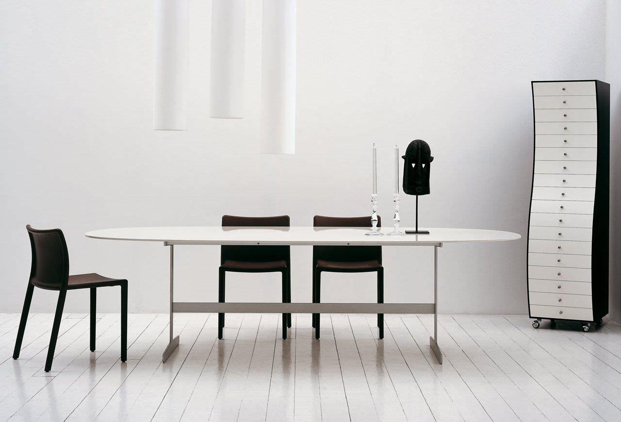 Cappellini Sedie ~ Cappellini lotus table and chair by jasper morrison furniture