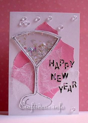 craft a new years greeting card or invitation shaker card craft