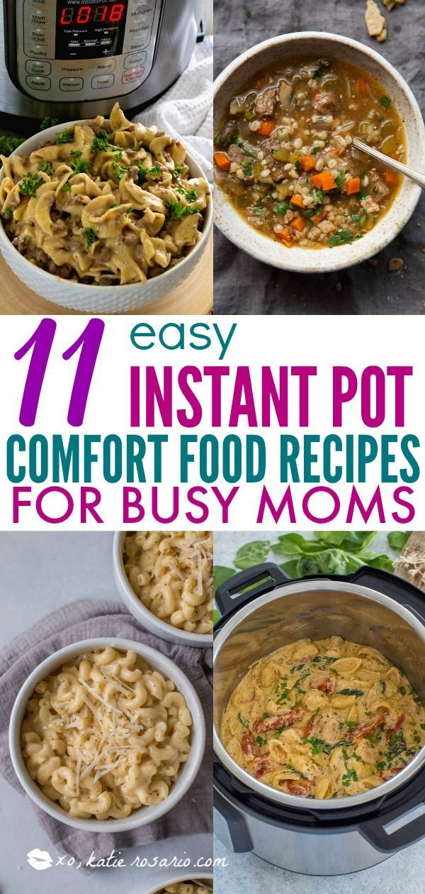 11 Easy Instant Pot Comfort Food Recipes For Busy Moms | Learn how to make comfort foods you know and love in a one-pot wonder machine like the instant pot. These instant pot comfort food recipes may seem too good to be true. With a little cleanup, you can have delicious soul-satisfying instant pot comfort food meals you can't wait to make. #xokatierosario #instantpotrecipes #instantpotcomfortfood #fastcomfortfood #beeffoodrecipes #easycomfortfood