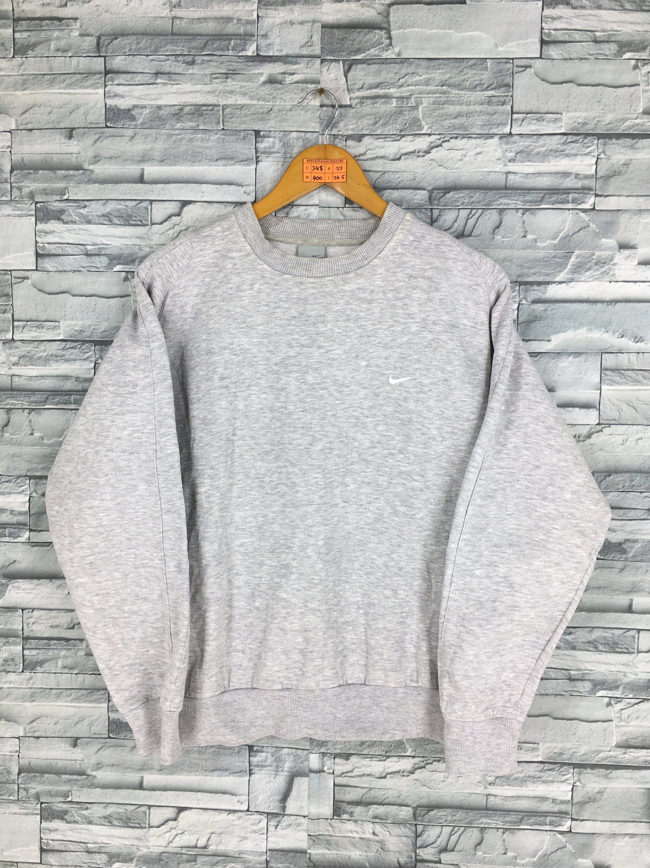 fec409a08 Vintage 90s NIKE Swoosh Sweatshirt Medium Women Nike Sportswear Streetwear  Nike Air Crewneck Sweater Nike Gray Jumper Size M by REPEATFASHIONSTORE on  Etsy