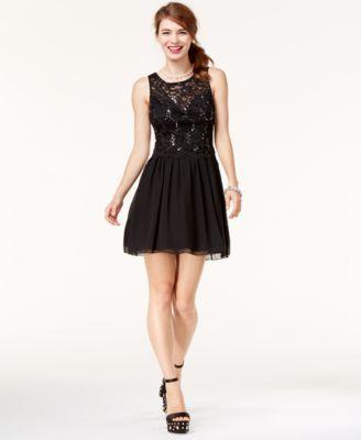 7ecfaccc845 Speechless Juniors  Sequined Lace Dress
