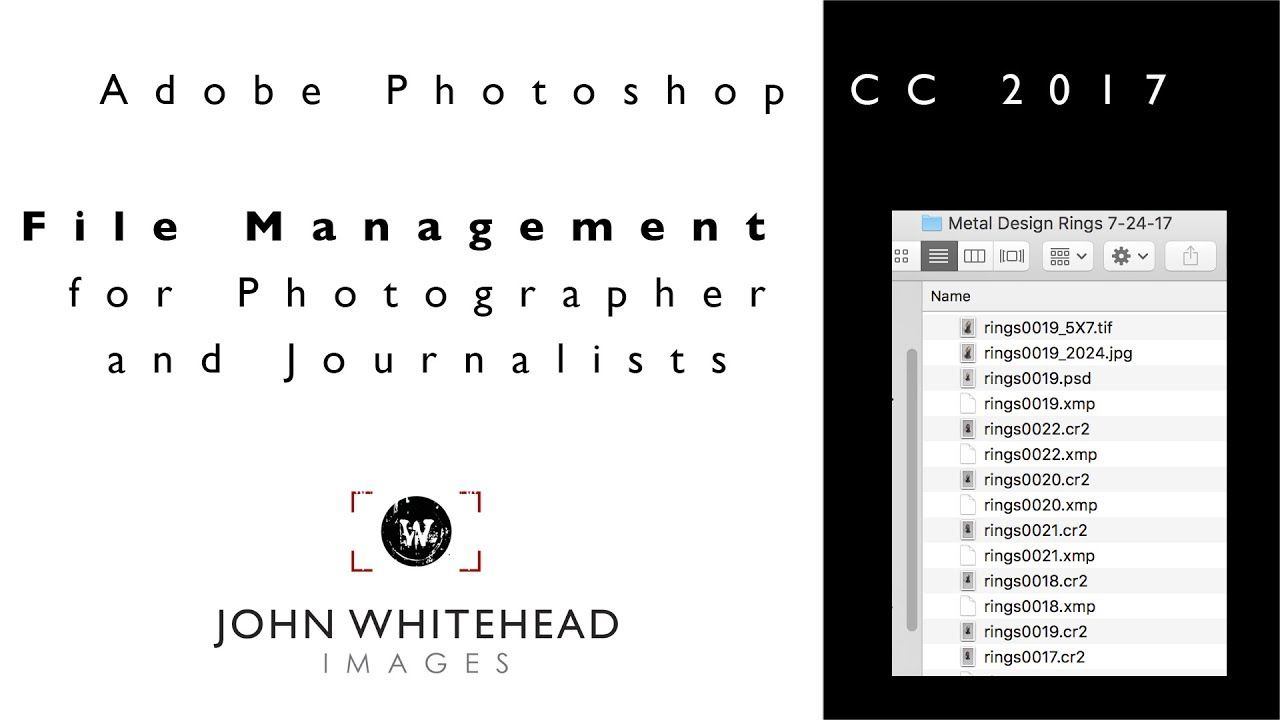 File Management for Photographers and Journalists