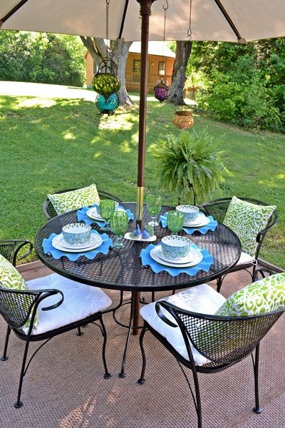 My Pier Backyard Makeover And A Pier Gift Card Giveaway - Pier 1 patio table