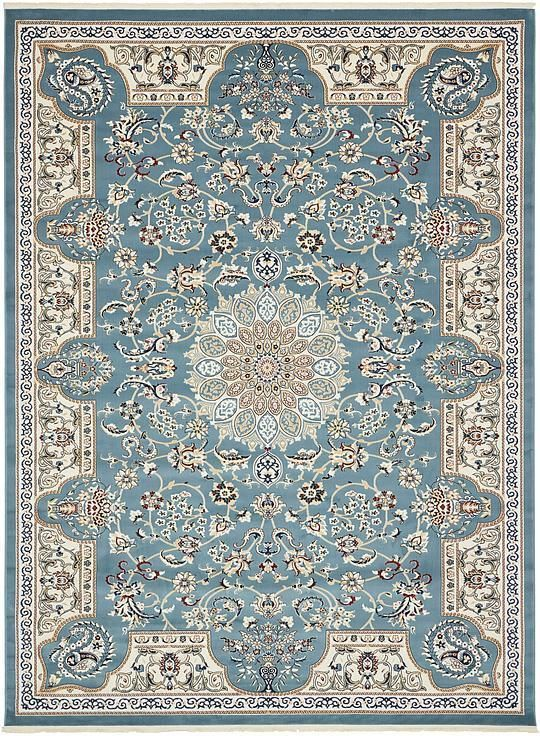 Blue Nain Design Area Rug With Images Area Rugs Blue Area Rugs Rugs