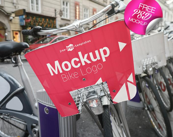 Download Bike Logo Psd Mockup For Designing Bicycles Logo Designs The Mockup Has High Resolution And Detalization Its Q Bike Logo Logo Mockup Logo Design Presentation