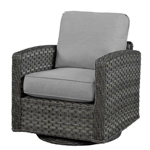 You Ll Love The Patio Chair With Cushion At Wayfair Great Deals On All Outdoor Products With Free Shipp Swivel Glider Chair Patio Chairs Lounge Chair Outdoor