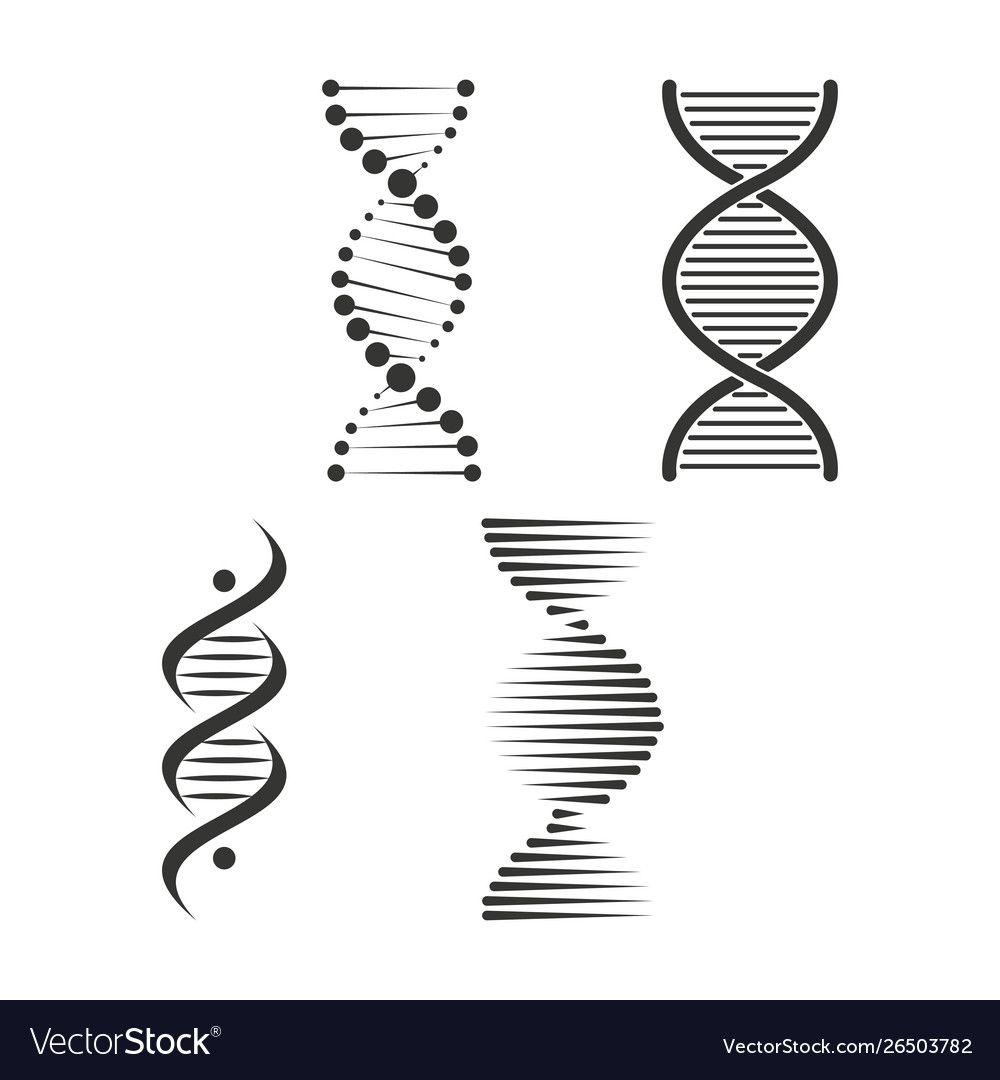 Dna Icon Set Chromosome Strand Symbol Vector Design Download A Free Preview Or High Quality Adobe Illustrator Ai Eps Pdf And Hi Dna Logo Dna Design Dna Art
