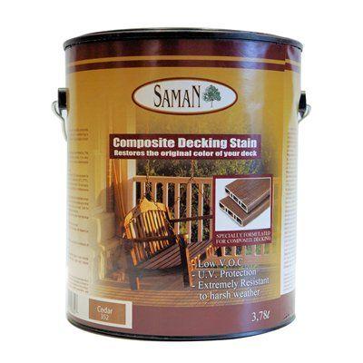 Saman SAM 352 4L Cedar posite Deck Stain Decks