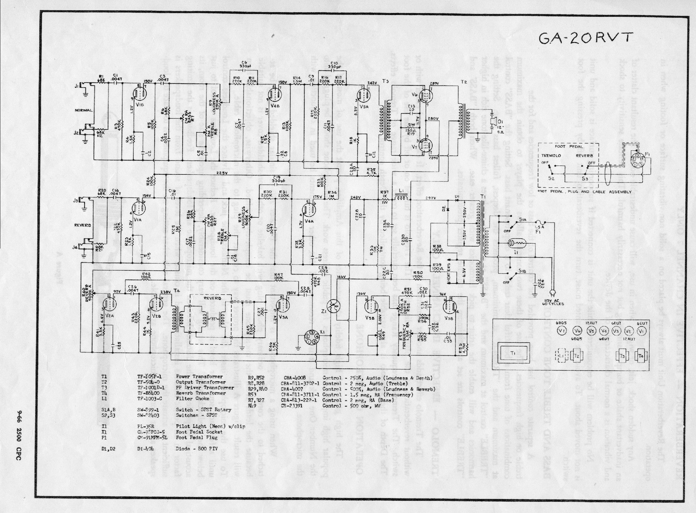Schematics For Gibson Minuteman Ga 20rvt
