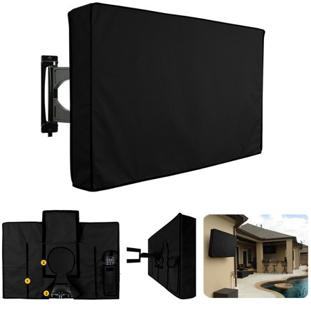 Grtsunsea Universal Outdoor Waterproof Weather Resistant Flat Screen Cover Protector For 30 Inch To 32 Inch Tv Black Outdoor Tv Covers Tv Covers Black Tv
