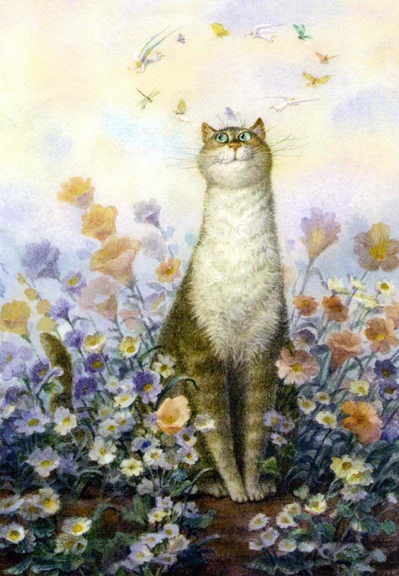 строящихся чудесные картинки с котами разные