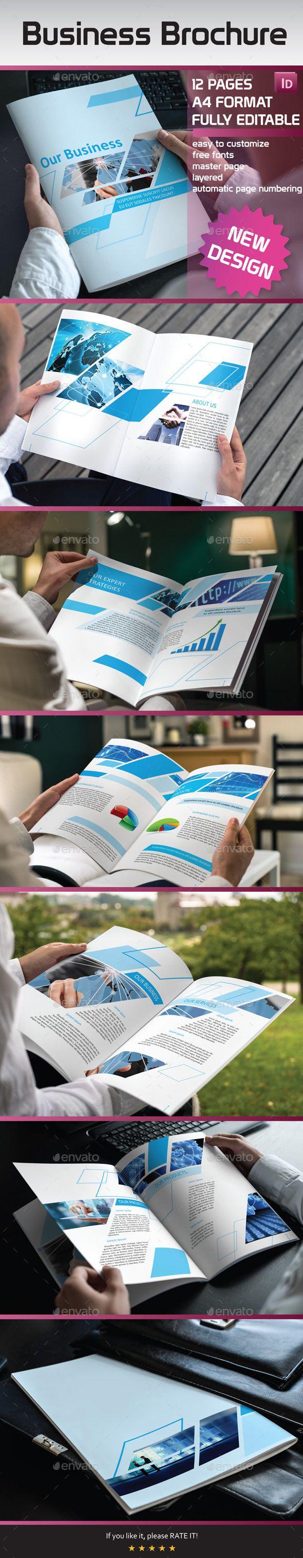 Brochure #Template  - #Brochures #Print #Templates Download here: https://graphicriver.net/item/-brochure-template-/11249254?ref=alena994