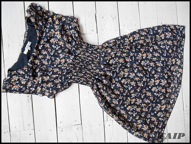 New Look Granatowa Sukienka W Kwiatki 34 5771344987 Oficjalne Archiwum Allegro Fashion